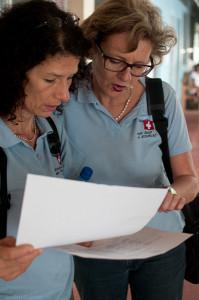 Dr. Ulrike Wohlleben und Silvia Honigmann