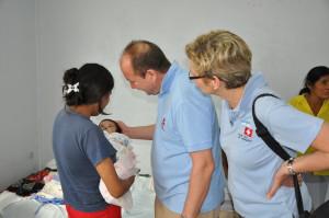 Gemeinsame Visite durch Prof. Dr. Robert Sader und Silvia Honigmann