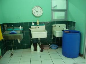 Waschplatz im OP im Spital in Somoto