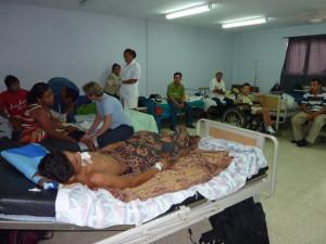 Auf der Station sind die Patienten mit ihren Angehörigen untergebracht.