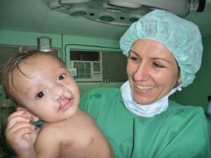 Dr. Brigitte Spirgi mit Patient